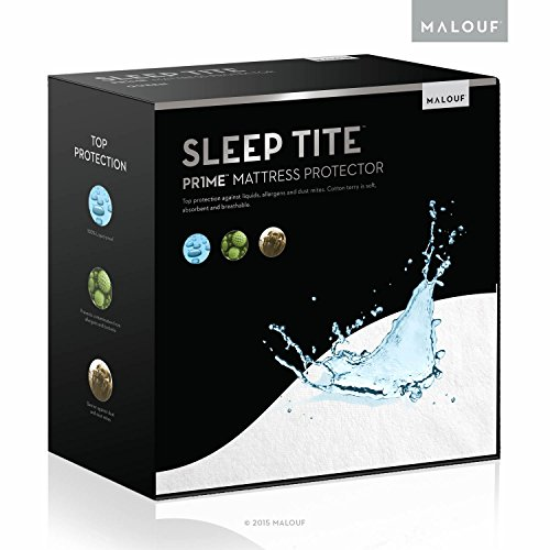 Sleep Tite Hypoallergenic 100% Waterproof Vinyl Free Mattress Protector, Split Queen (Split Queen Mattresses)