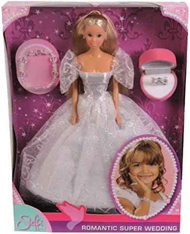 Simba Steffi Love 105738979 Romantic Superwedding - Muñeca con vestido de novia y accesorios [importado de Alemania] , color/modelo surtido