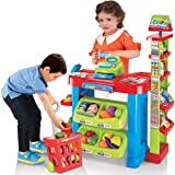 Supermarket Playset Food Stall Kids Role Play Kitchen Game Set