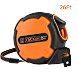 Tacklife TM-B03 Classic Tape Measure 26FT Self-Marking Ruler Tape with Hook,Soft Rubberized Case Inch and Metric Measuring for Construction, Home Improvement, Carpentry, Measurement.