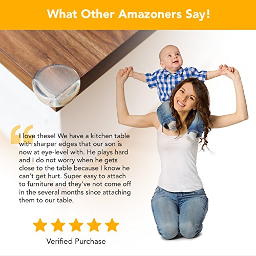 Large Product Image of The Hamptons Baby Caring Corner Guards   Premium Clear Corner Protectors   Safety Furniture Bumpers   Long Lasting, Pre-Applied Gel Adhesive   Sharp Corner Cushion (8 Pack)