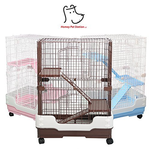 Homey Pet 3 Tiers Chinchilla Hamster Rat Ferret Cage with...