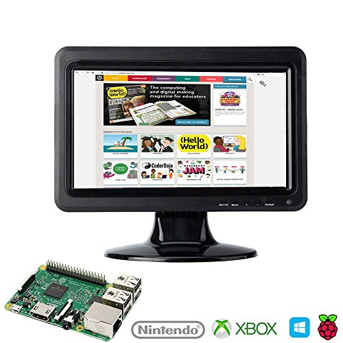 Juvtmall HD Screen Monitor 10.1 Inch 1024x600 HDMI LCD Screen Display for PS3 PS4 Xbox360 for Raspberry Pi 3 windows 7 8 10 … by Juvtmall (Image #2)