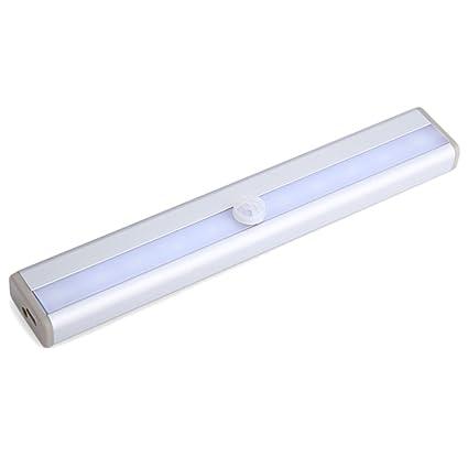Sensor De Movimiento Activado Luz Portátil Pequeña Noche LED Inalámbrico Bajo Luces del Gabinete 6-