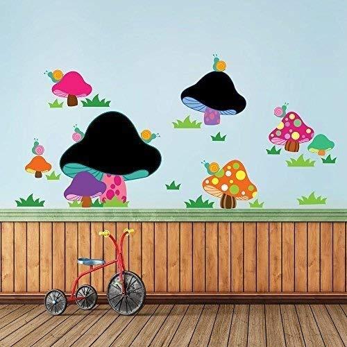 Walplus Wall Sticker Decal Wall Art Blackboard with Mushroom Layout Design