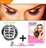 ARVESA 8x False Magnetic Eyelashes Full Set [With APPLICATOR and eBOOK] The Best Fake Eye Lashes Magnet - Dual Magnets Silk Eyelash Extensions - Natural Look | One Two Lash | No Glue, Reusable