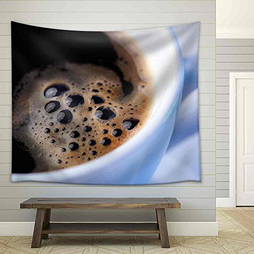 Close Up of a Wonderful Cup of Coffee Fabric Wall Tapestry