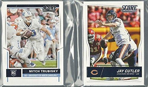 2016, & 2017 Panini Score Football Chicago Bears 2 Team Set Lot 25 Cards W/Rookies Mitchell Trubisky