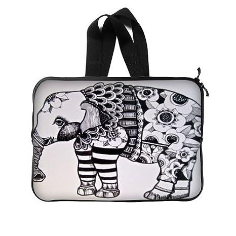 Elefante azteca dibujo 15 pulgadas (un lado) bolsa de ordenador portátil cubierta de la caja: Amazon.es: Electrónica