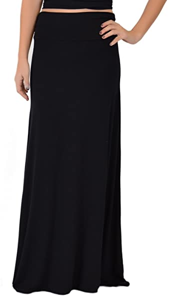 3313758655 Stretch is Comfort Women's Maxi Long Flowy Stretchy Skirt at Amazon ...