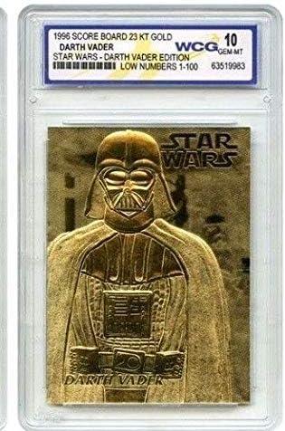 Star Wars Darth Vader 1995 Score Board 23KT Gold Card Gem-MT 10