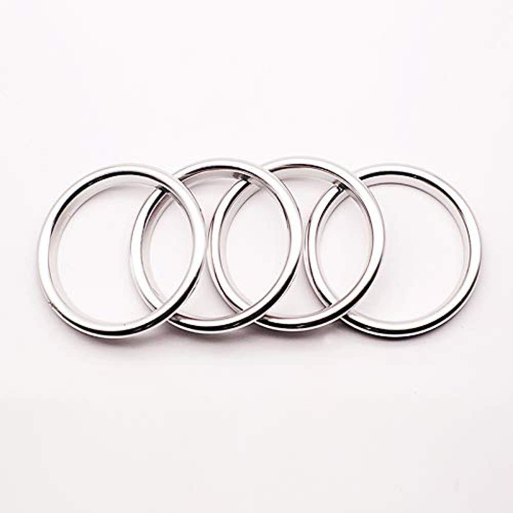 Freenavi Air Conditioning Ring Cover Air Exit Cover Decoration Sticker for Audi A3 S3 2013-2016 / Q2 2017 Accessories, Car-Styling 4pcs (Sliver)