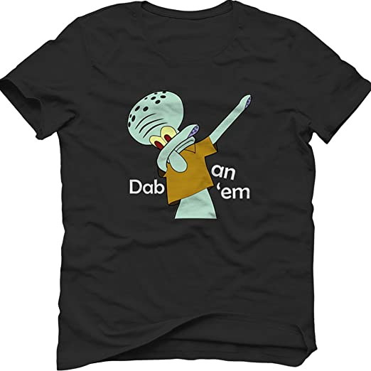 174e17eeaff Amazon.com  Tshirt Club DAB Style Squidward Man s T-Shirt  Clothing