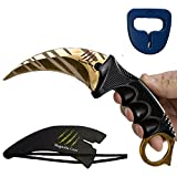 KARAMBIT CSGO Knife Skins By Magnolia Gear | Tactical Knife | Neck Knife Easy To Carry with Rope, Sheath and Sharpener | Perfect for Hunting Fishing Camping Survival | Personal Self Defense Tiger Review