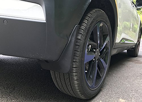 ITrims Plastic Accessories Exterior Front /& Back Mud Flaps Splash Guard 4PCS for Hyundai Kona 2017-2018