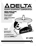 Delta 31-495 Bench Oscillating Spindle Sander Instruction Manual Reprint