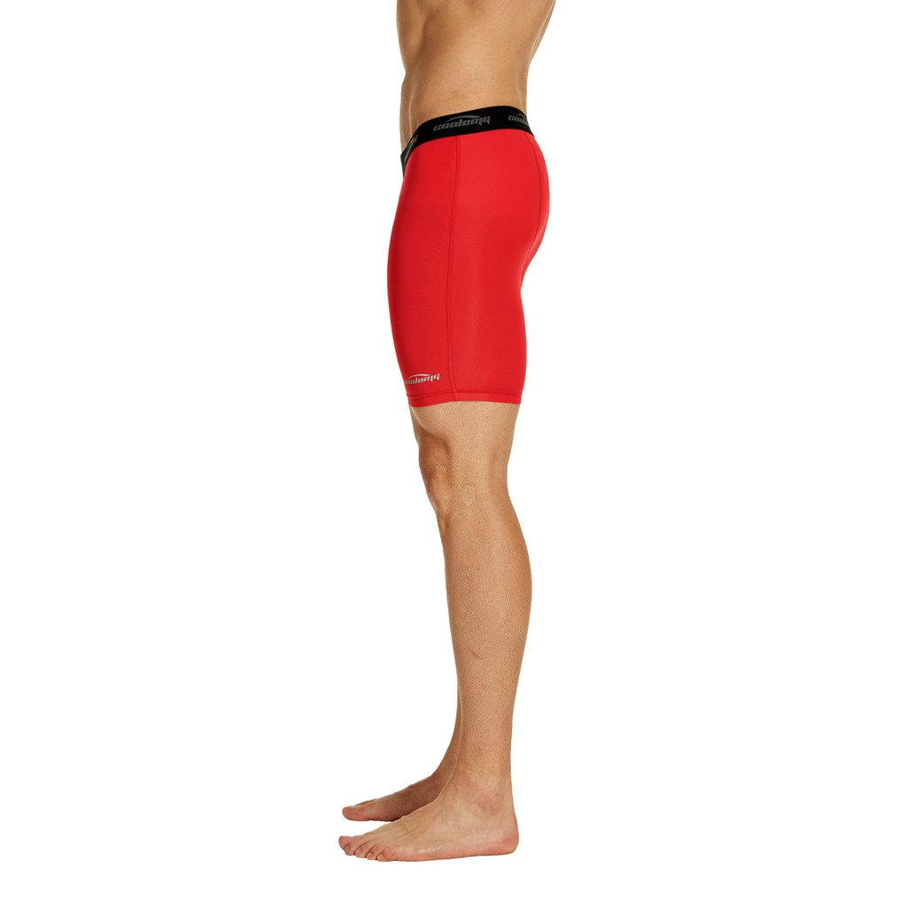COOLOMG Mens Compression Shorts 6 Cool Dry Sport Tights Training Baselayer for Boys Youth