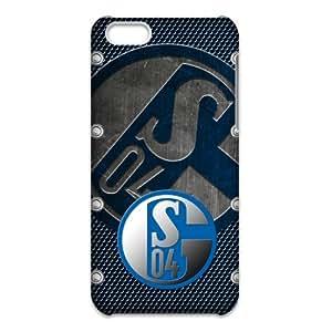 3D iPhone 5C Case,Nupro Lightweight[Non-Slip] [Scratch-Resistant]Protective Bumper FC Schalke 04 Logo Design