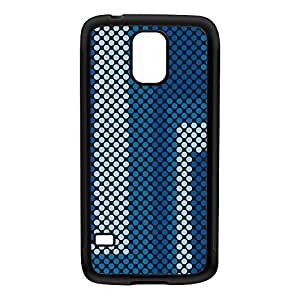 Digital Dots - Blue Black Silicon Rubber Case for Galaxy S5 by Gadget Glamour + FREE Crystal Clear Screen Protector