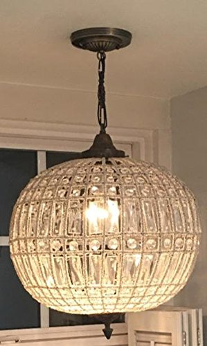 Egypt gift shops HANDMADE French Empire Basket Crystal Orbit Globe Ceiling Chandelier Antique Replica Aged Bronze Finish Brass Lamp Old Bronze Finish Chandeliers