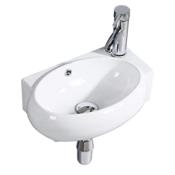Fantastic Gimify Cloakroom Basin Mini Bathroom Sink Ceramic White Corner Right Hand Download Free Architecture Designs Grimeyleaguecom