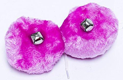"""Roller Skate Pom Poms - 4"""" Round - Color Neon Pink"""