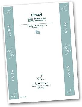 Zeichenblock Lana Bristolkarton 250g//qm A4 20 Bl