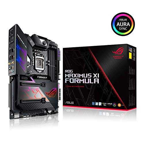 ASUS ROG Maximus XI Formula LGA1151 (Intel 8th and 9th Gen) ATX DDR4 HDMI M.2 USB 3.1 Gen2 Z390 Gaming Motherboard