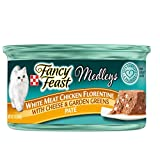 Cheap Purina Fancy Feast Medleys Pate Collection Gourmet Wet Cat Food, (24) 3 oz. Cans, White Meat Chicken Florentine with Cheese & Garden Greens