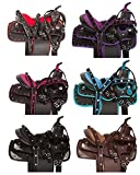 Y&Z Enterprises Synthetic Western Horse Saddle Barrel RacingTack Size 15″ to 18″ Inch Seat Available