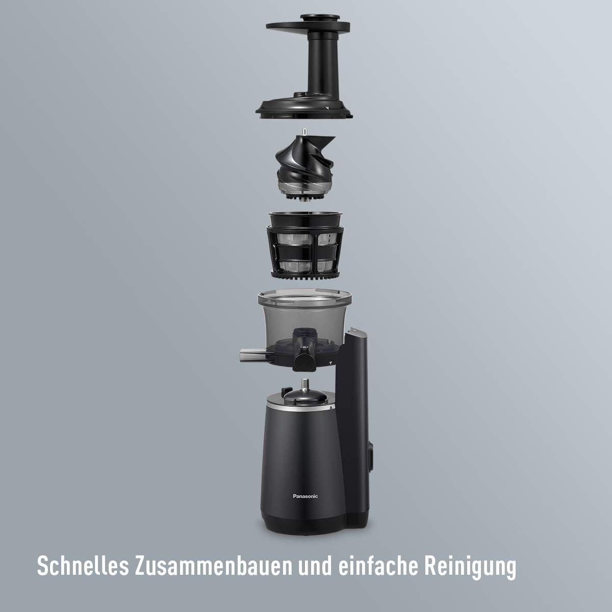 Panasonic MJ-L501 - Exprimidor (Exprimidor lenta, Negro, 1 m, 63 ...