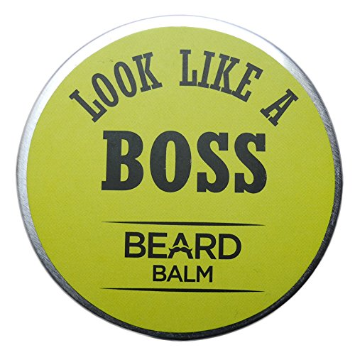 Look Like A Boss Beard Balm For Men Leave-in Conditioner – All Natural – Organic Oils and Butters – 7 Key Ingredients – 2oz (30g) – A Top Rated Premier Product