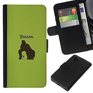JackGot ( Tarzn ) LG Nexus 5 D820 D821 la tarjeta de Crédito Slots PU Funda de cuero Monedero caso cubierta de piel