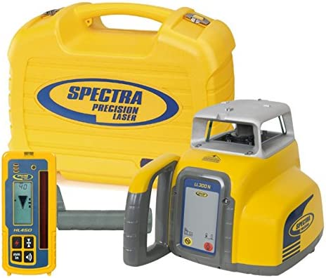 Spectra Precision Laser LL300-4 Automatic Self-leveling Level w HR350 Receiver, NiCad Rechargeable Batteries