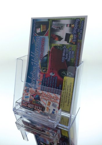 Marketing Holders Bi-fold 6 X 8 Inch Brochure Holder with Business Card Holder by Marketing Holders