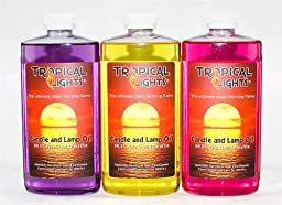 Candle and Lamp Oil (Set of 3) Tropical Breezes Collection