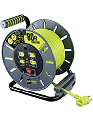 Masterplug Heavy Duty Extension Cord Open Reel with 4 120V / ...