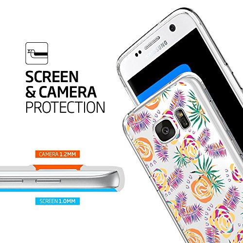 Edge Modello Silicone Caso Ultra Met Custodia Galaxy Sottile Tpu S7 Fioritura EPqxAX