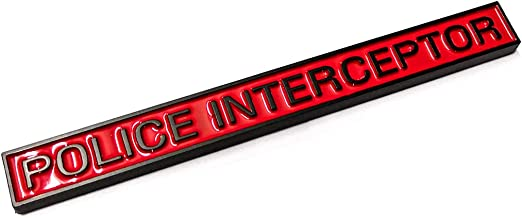 POLICE INTERCEPTOR Explorer Emblem Badge Car Trunk Sticker Replacement for Ford Explorer Car Accessories Red /& Black Aruisi