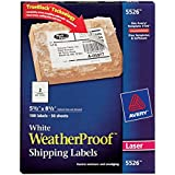 Avery Weatherproof Laser Shipping Labels, 5.5 x 8.5-Inches, Pack of 100 (5526)