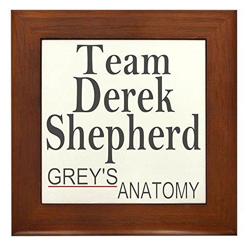 Shepherd Framed Tile (CafePress - Team Derek Shepherd - Framed Tile, Decorative Tile Wall Hanging)