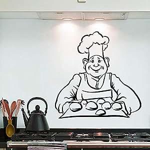 hllhpc Etiqueta de la Pared Chef Pan Hornear Tatuajes de ...