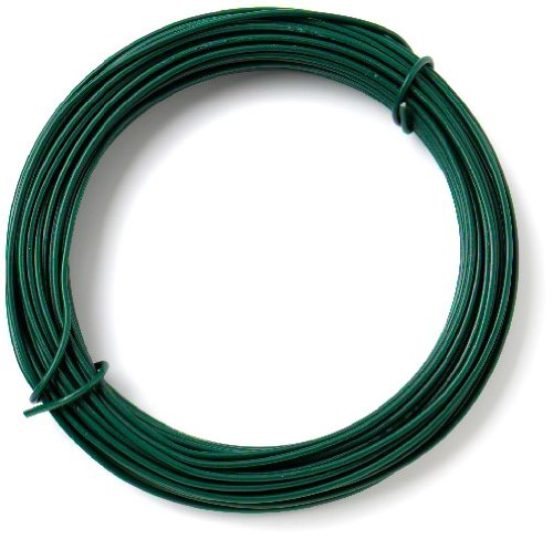 Bulk Hardware BH00135 Fil de fer plastifi/é pour jardin Vert