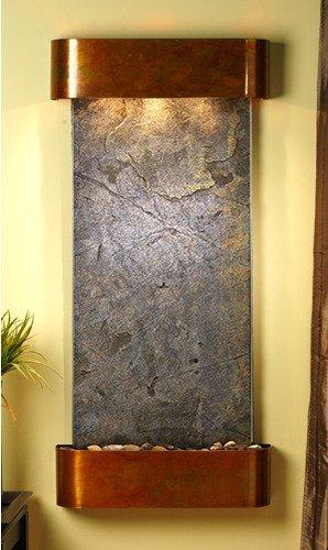 Adagio Cascade Springs Wall Fountain Green FeatherStone Rustic Copper - CSR1012