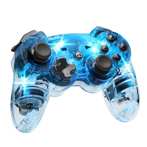 Afterglow Wireless Controller, Blue - PlayStation - Controller Ps3 Wireless Glow