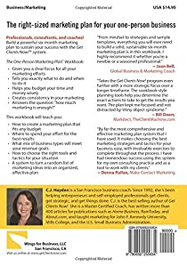 The One-Person Marketing Plan Workbook by Wings for Business, LLC
