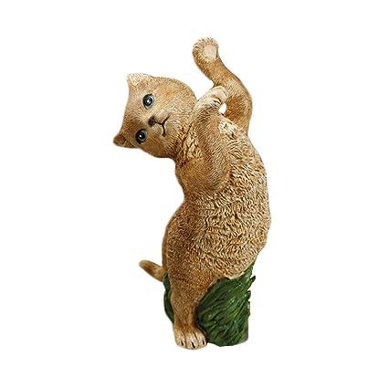 Healifty Figuras de Gato Decoración Mini Resina Linda Figuras de Animales Colección Juguete Oficina En Casa