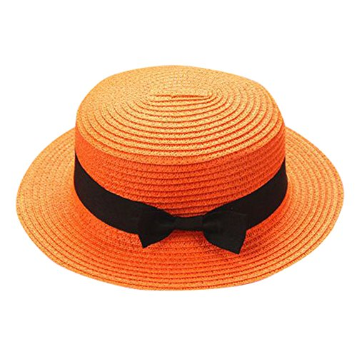 ❤ Fulijie Exquisite Baseball Cap, Fashion Mother&Me Father Mother Bowknot Breathable Well Crafted Straw Hat Orange - Over 25 Lbs 60 Tablets