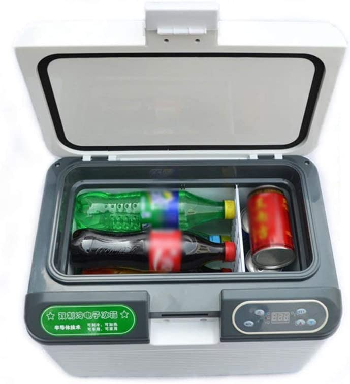 Stylish Simplicity 12L Dual Core Refrigeration Portable Fridge Small Freezer Car And Home Dual-Use Refrigerator Mini Fridge 12V/24V/220V Vehicle Car Refrigerator Fridge, CZ