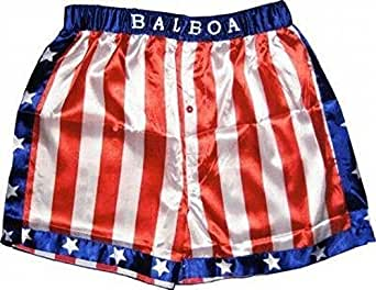 Rocky Balboa Apollo Movie Boxing American Flag Shorts (Small)